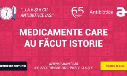 """Webinarul aniversar """"Antibiotice 65: Medicamente care au făcut istorie"""" se apropie"""